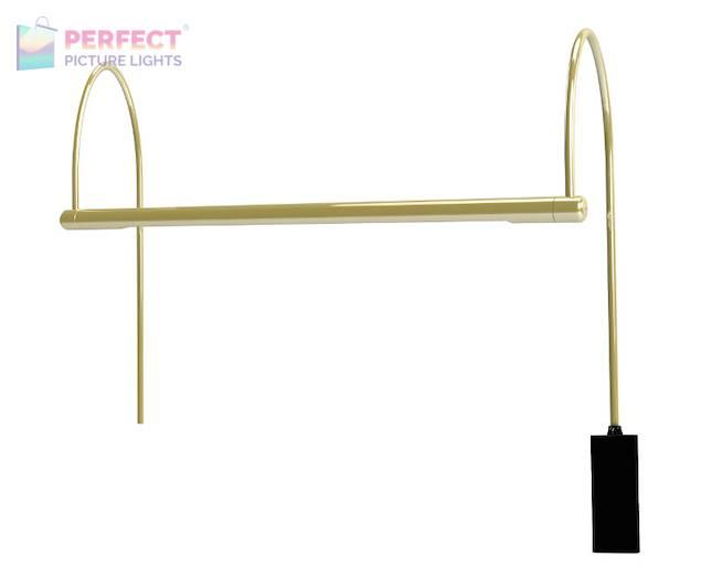 "Ultra Slim-Line 15"" LED Polished Brass Picture Light"