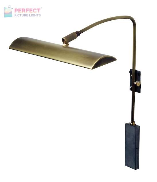 "Zenith 12"" LEDZ picture light in Antique Brass"