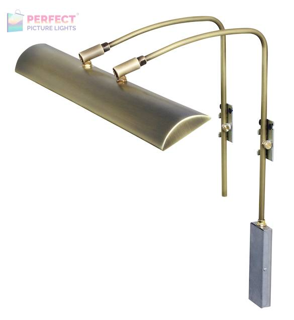 "Zenith 24"" LEDZ picture light in Antique Brass"