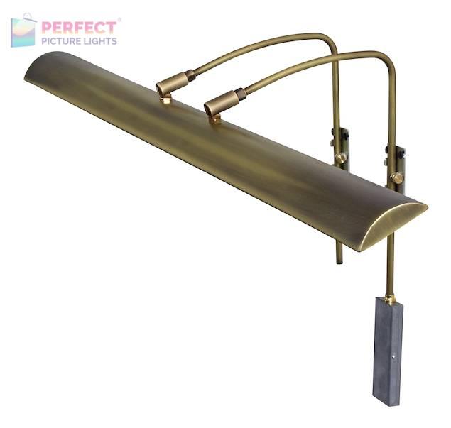"Zenith 36"" LEDZ picture light in Antique Brass"